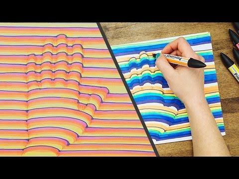 فيديو : تعلم رسم يدك بتقنية البعد الثالث .. الأكثر مشاهدة على يوتيوب
