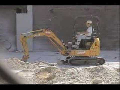 Digging Trench with Mini Digger/Loader