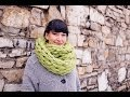 Arm Knit an Infinity Scarf in 30 Minutes