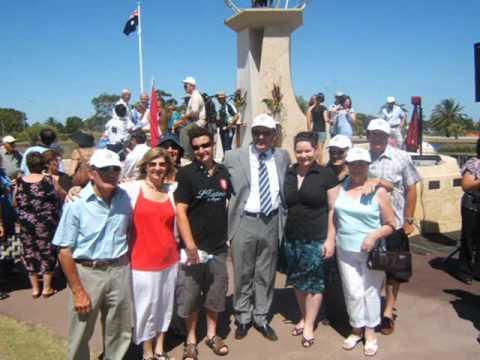 Monumento all'emigrante abruzzese in Perth. 13 Gennaio 2008