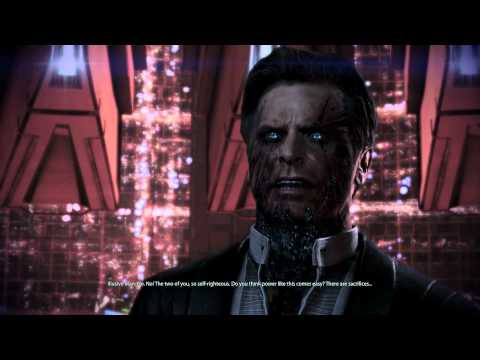 Mass Effect 3 Extended Cut - Paragon - Anderson & Illusive Man Dialogue - 1080p