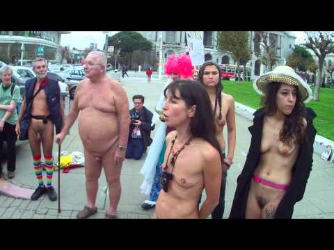 Part III of San Francisco Nudity Ban Protest on December 4, 2012