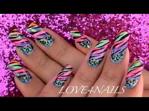 COLORFUL ANIMAL PRINTS NAIL ART DESIGN TUTORIAL