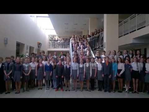 Флешмоб «День Победы!» прошел вгимназии №14