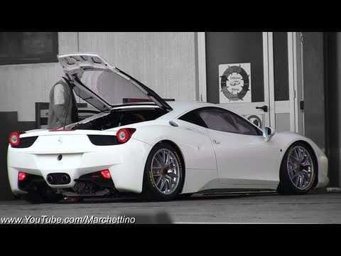 Ferrari 458 Challenge Rev and on the Road