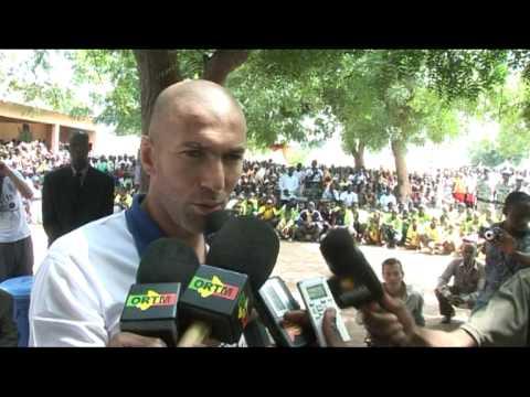 UNDP Goodwill Ambassador Zinedine Zidane visit to Mali