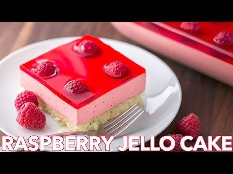 Dessert: Raspberry Jello Cake Recipe - Natasha's Kitchen