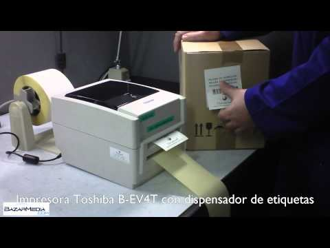 TOSHIBA B-EV4T CON DISPENSADOR DE ETIQUETAS EN BAZARMEDIA.COM