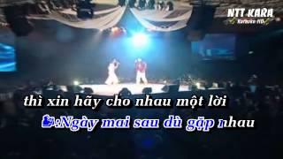 Vầng trăng khơc new version - Nhật tinh Anh - Khánh Ngọc - karaoke ( only beat )