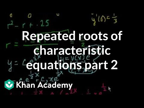 Repeated roots of the characterisitic equations part 2