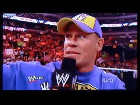 John Cena Disses The Rock Again (7-3-2011)