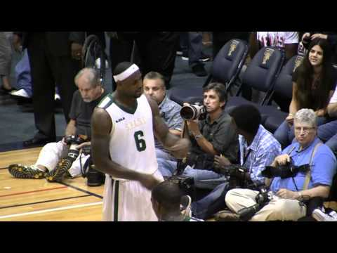 "Lebron James sings ""Niggas in Paris"" Then hits Half-Court Shot at the Buzzer!"
