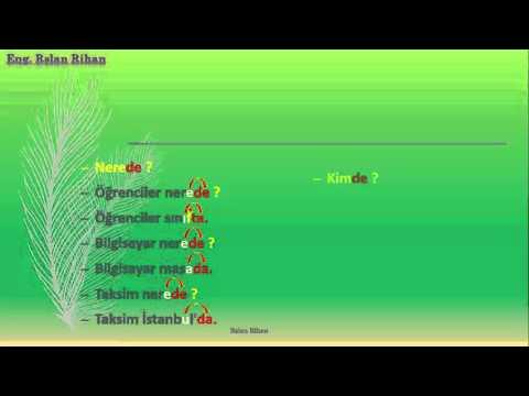 تعلم اللغة التركية (الدرس 4 من المستوى الأول A1) (أحرف الجر)