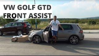 Volkswagen Golf GTD - działanie systemu Front Assist