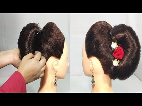 Very Easy French Roll Hairstyles French Bun Hairstyle For Party
