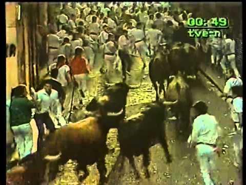 Encierro San Fermin Pamplona del día  14 7 1985