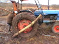 Fordson tractor stuck in the mud