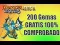 Hack MonsterLegends 200 Gemas Gratis :D