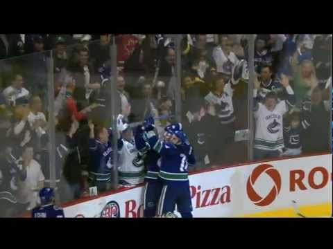 Alex Burrows Goal - Canucks Vs Sharks - R3G5 2011 Playoffs - 05.24.11 - HD