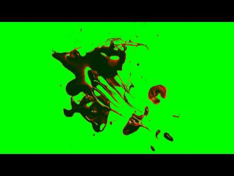 Blood Splatter - green screen effects
