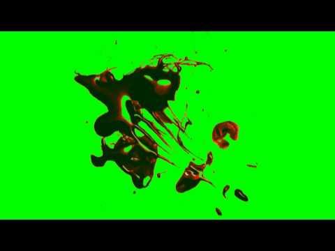 Blood Splatter - green screen effects