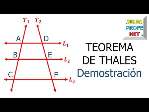 Teorema de Thales (Parte 1 de 2)