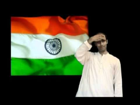 Indian National Anthem in Universal Design (Indian Sign Language)