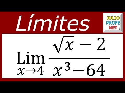 Límite con factorización y racionalización