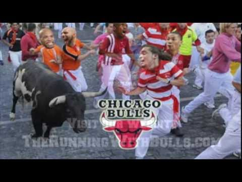 Chicago Bulls players in Pamplona