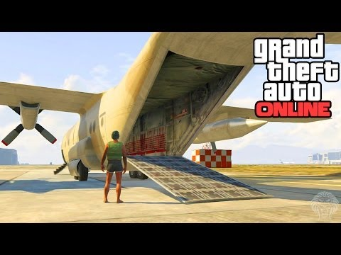 GTA 5 Online: How To Open The Back Of The Titan! Secret Cargo Ramp To Carry Cars Tutorial (GTA V) - unknownplayer03