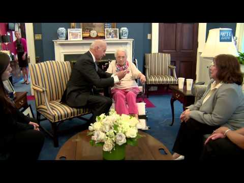 Raw Video: Meeting Lucy Coffey at the (White House)