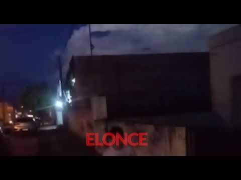 Video de amenazante nube con rayos antes del temporal en Nogoyá