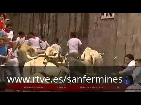 San Fermín 2012: quinto encierro, ganadería Fuente Ymbro
