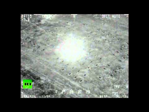 (Iraq) combat cam video: Military aircraft bombs ISIS hideouts in Mosul   6/22/14