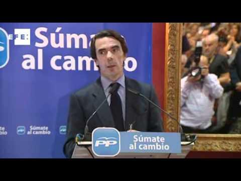 Aznar: Rubalcaba dimitió de candidato y se convirtió en intrépido reportero