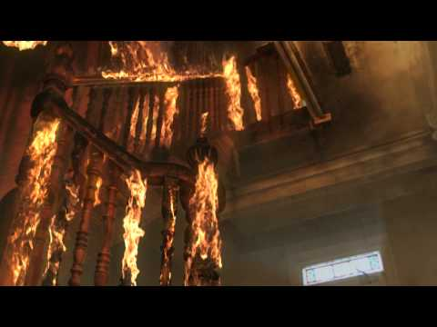 Maya Fire, smoke and N-cloth simulation