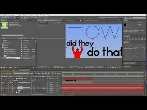 after effects tutorial: how to create a intro text animation / greenscreen keying (PART 2of2)