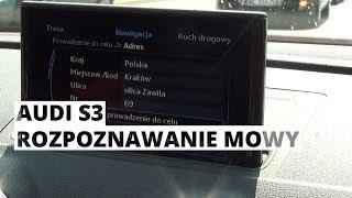 Audi S3 Limousine - system rozpoznawania mowy