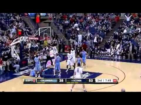 11-11-11 Jeremy Lamb (UConn) dunk on Columbia defender