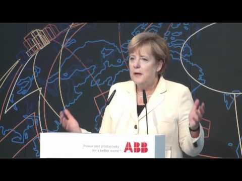 Angela Merkel highlights new engineering jobs at ABB