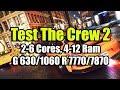 Тест The Crew 2 (beta) на слабом ПК ( 2-6 Cores, 4-12 Ram, GeF 630/1060 Rad 7770/7870)