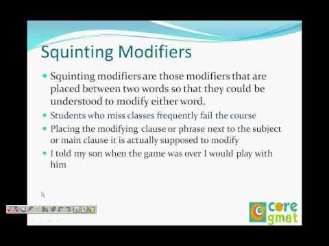 Kengage :  GMAT Sentence Correction (Modifier type )Video 5 of  28