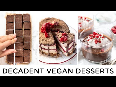 DECADENT VEGAN DESSERTS ‣‣ easy *NO BAKE* recipes