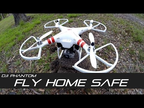 DJI Phantom Tip #1, Fly home with extra height in fail safe around huge trees without crashing!