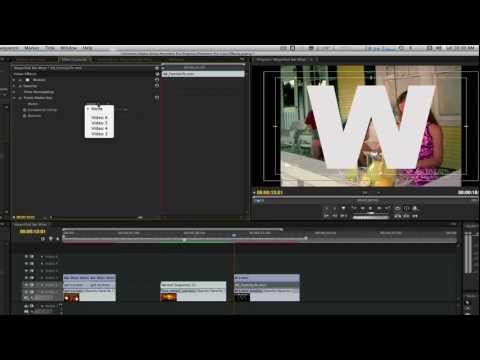 Premiere Pro Cool Effect Tutorial #3: Multiple Videos Inside Text Effect