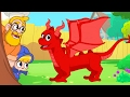 Dragon in Mila and Morphle's Back Yard! -- My Magic Pet Morphle Videos For Kids