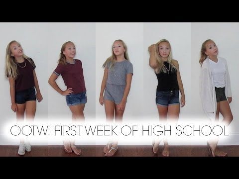 my first week of high school