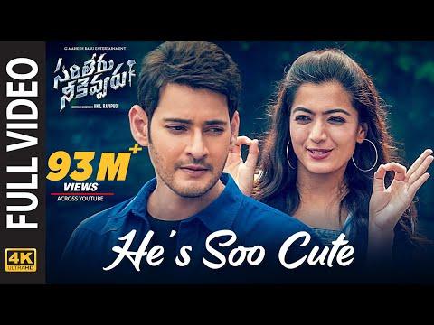 He's Soo Cute Full Video Song [4K] | Sarileru Neekevvaru | Mahesh Babu, Rashmika,Anil Ravipudi | DSP