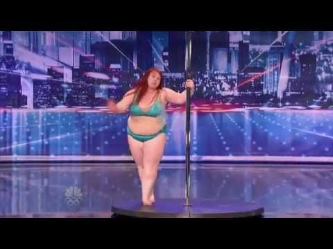 Big Girl Lulu Trying To Work The Pole On America's Got Talent!