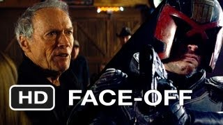 Dredd vs. Trouble With The Curve - Movie Face-Off - Gravel-Voiced One-Liners HD